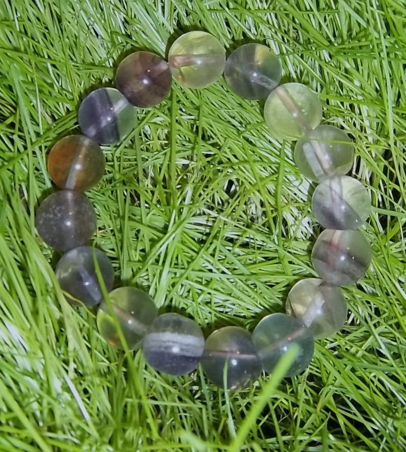 Rainbow Fluorite Stretch Bracelet
