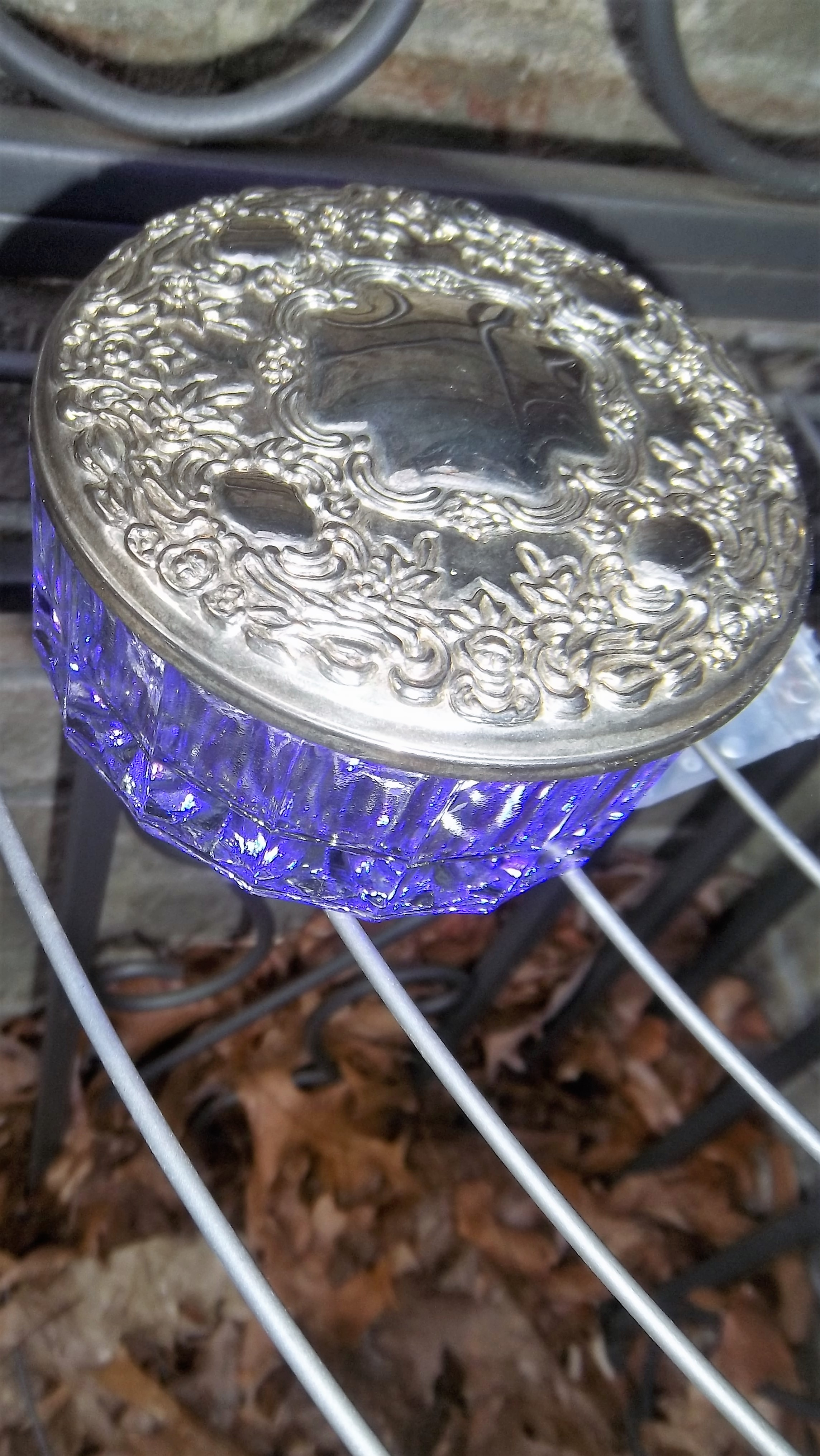 Magical Aura Lantern with Silver-Plate Lid