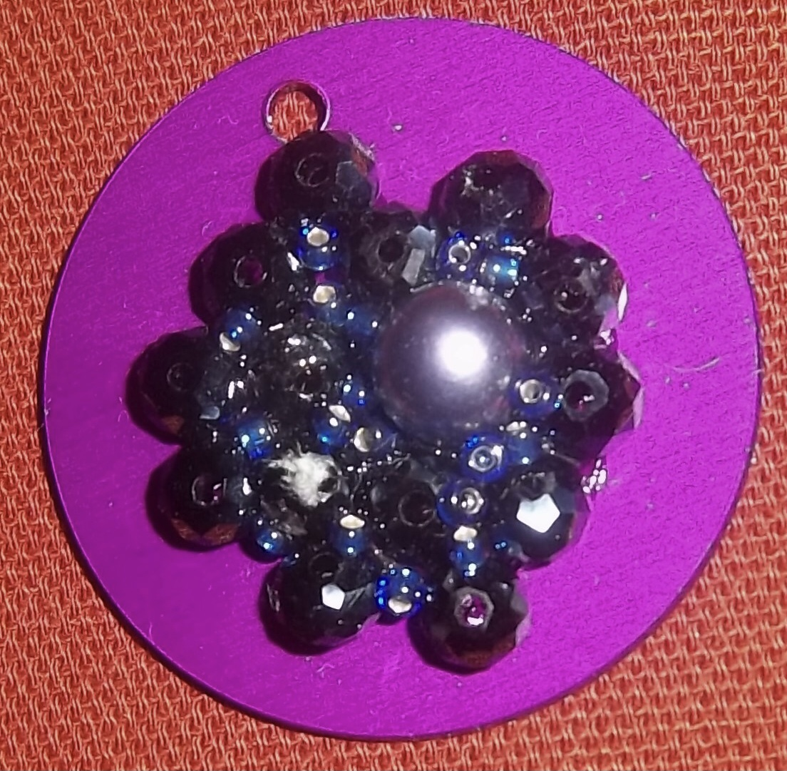 Energy Disk w/Hematite Crystals