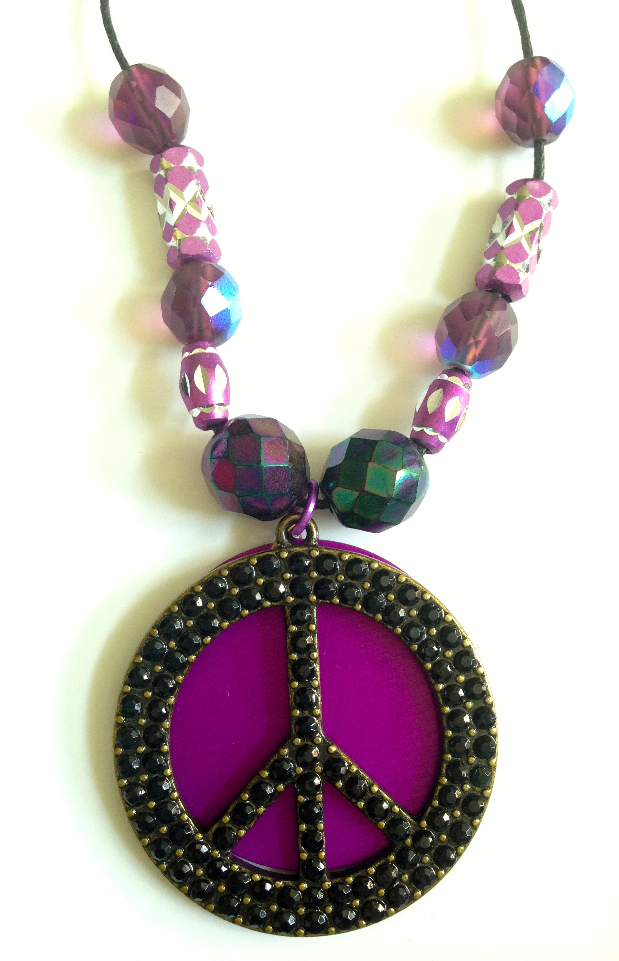 Only-One Rhinestone Peace Sign with large Energy Disk