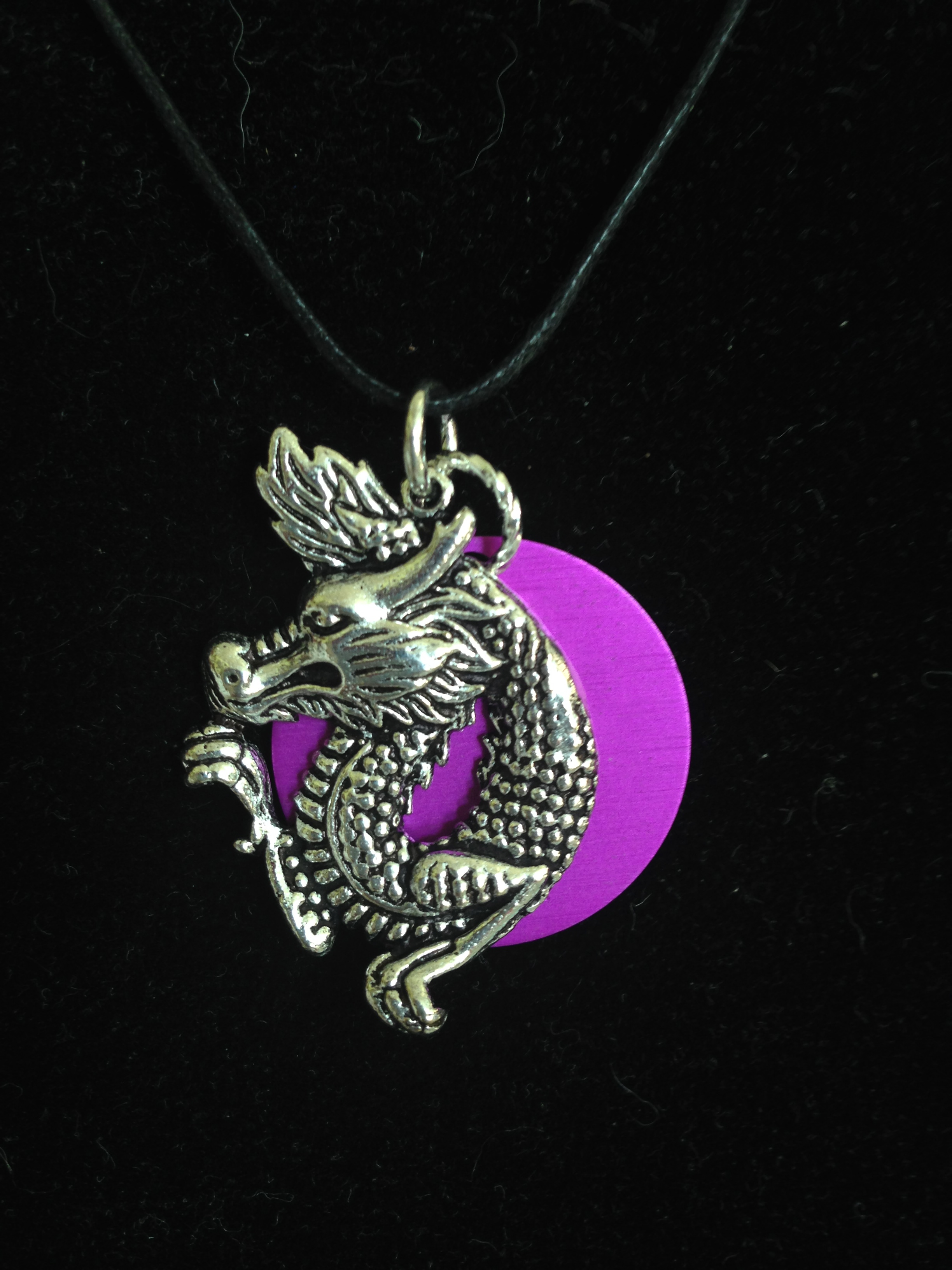 Dragon with Purple Energy Disk