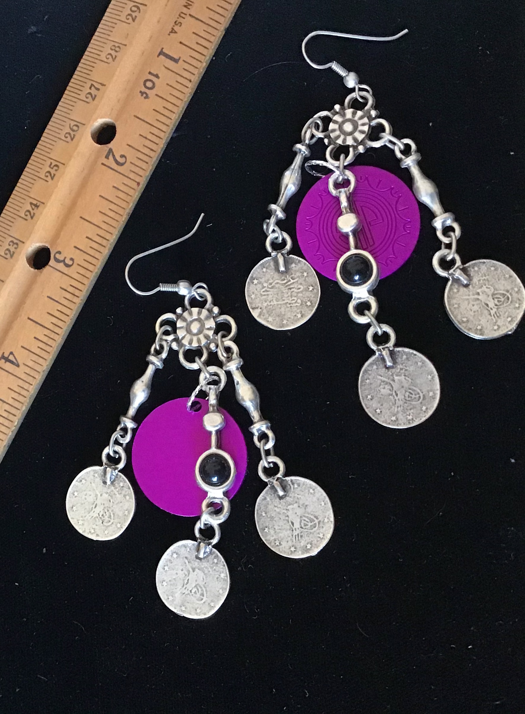 Dramatic Coins w/ Energy Disks Earrings