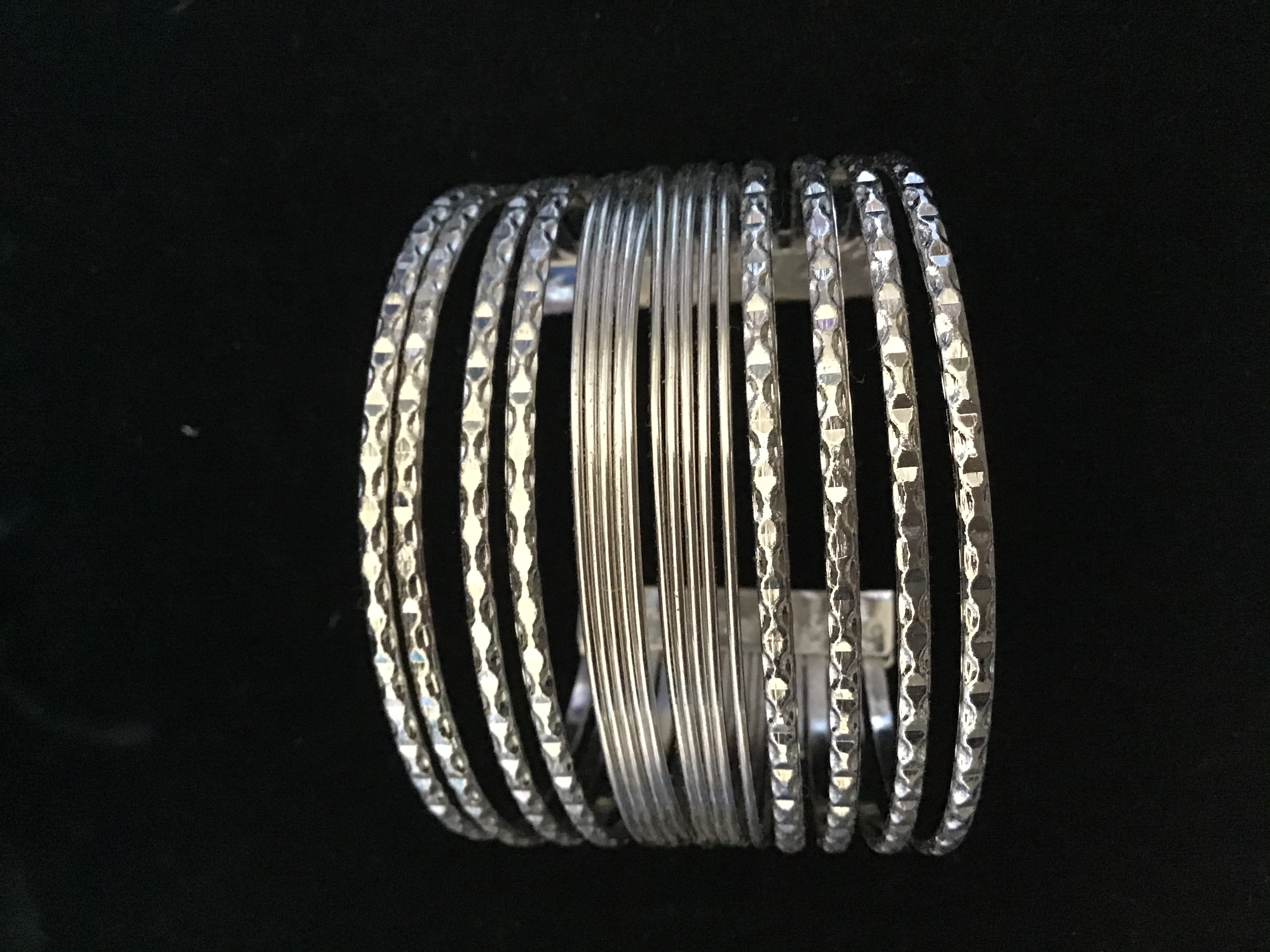 Silver Cuff style Bracelet with Open Back