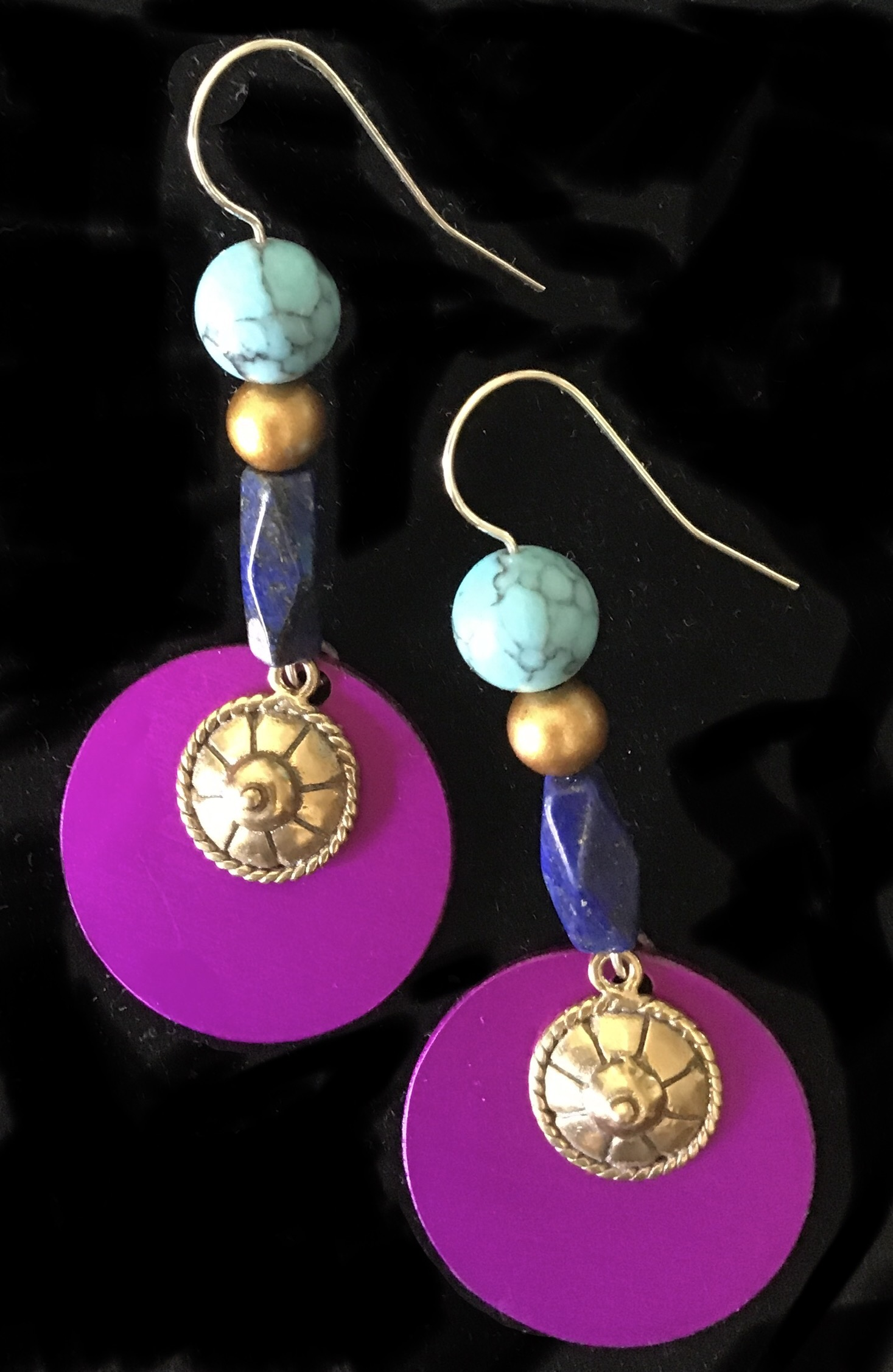 Energy Disks w/Lapis, Magnesite Beads