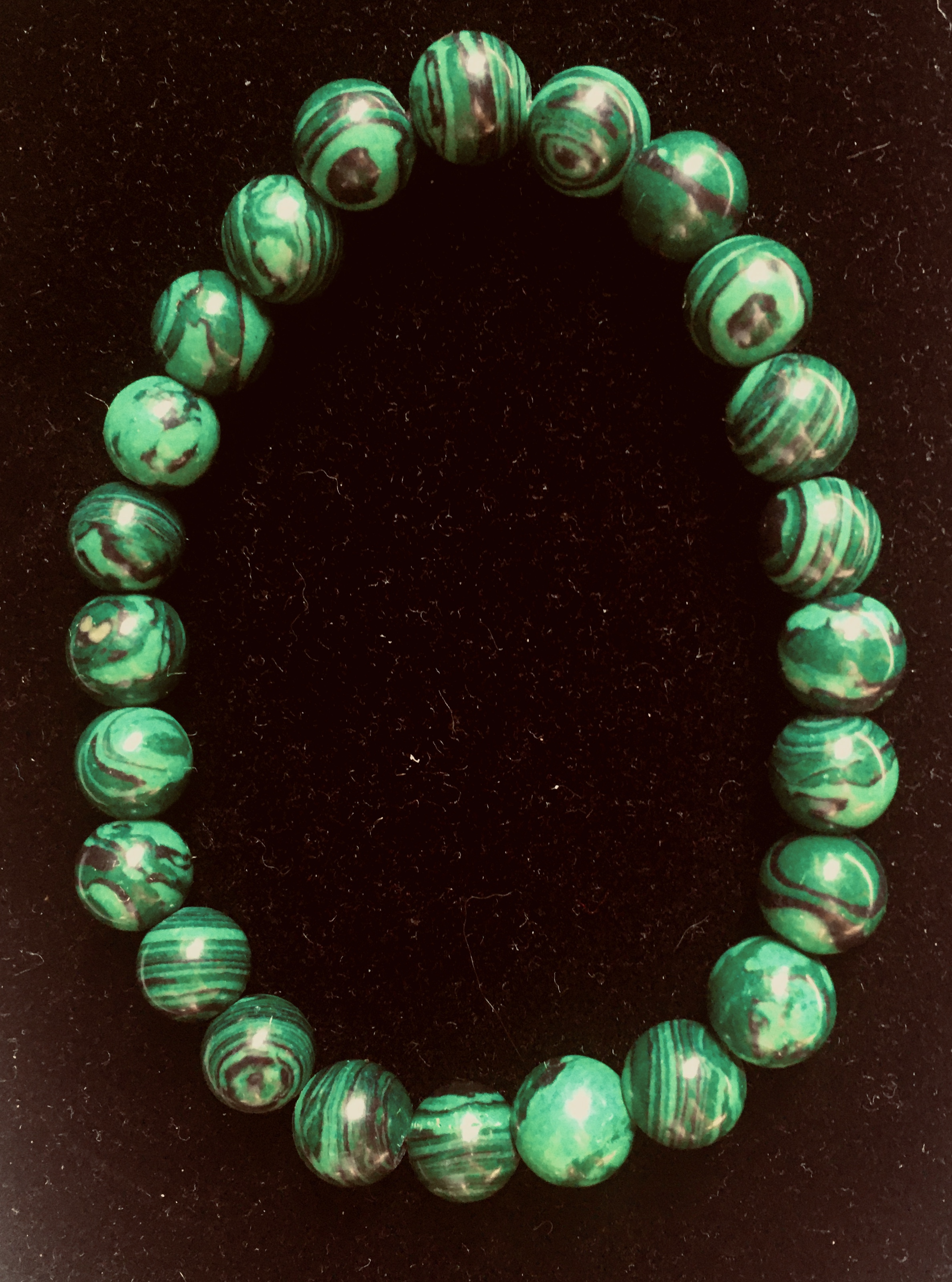 Malachite Stretch Bracelet