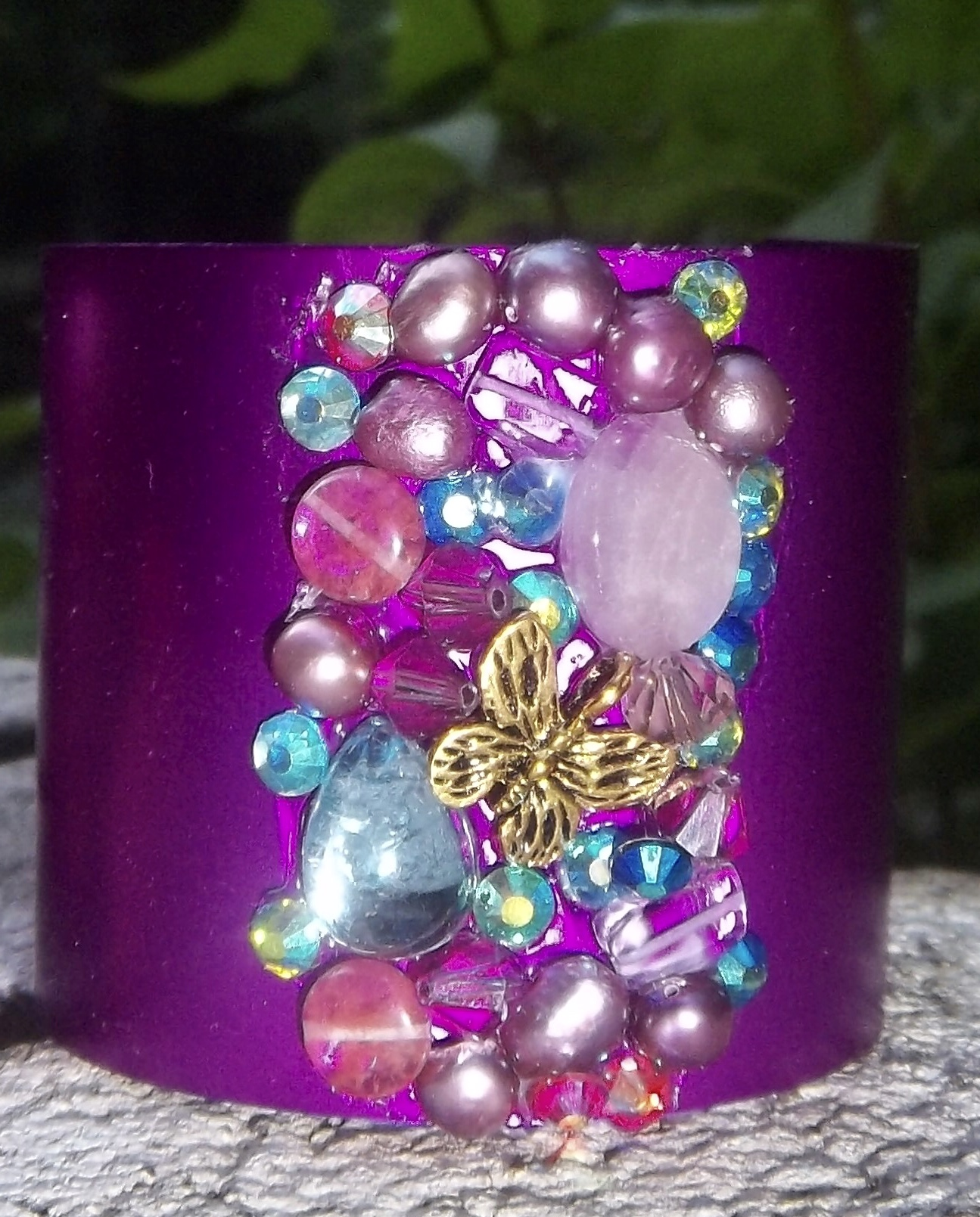 Purple Energy Butterfly Cuff