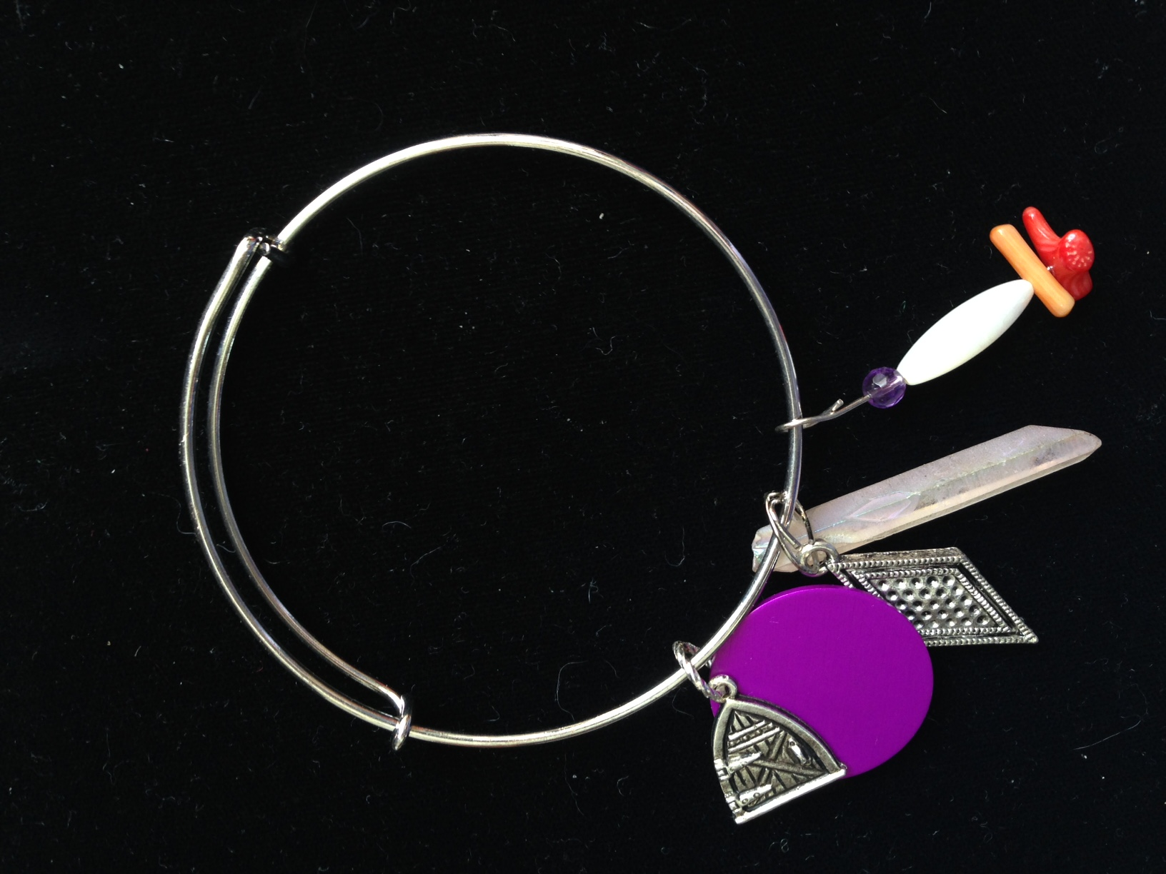 Tesla Purple Energy Charm Bangle-Fairy Door