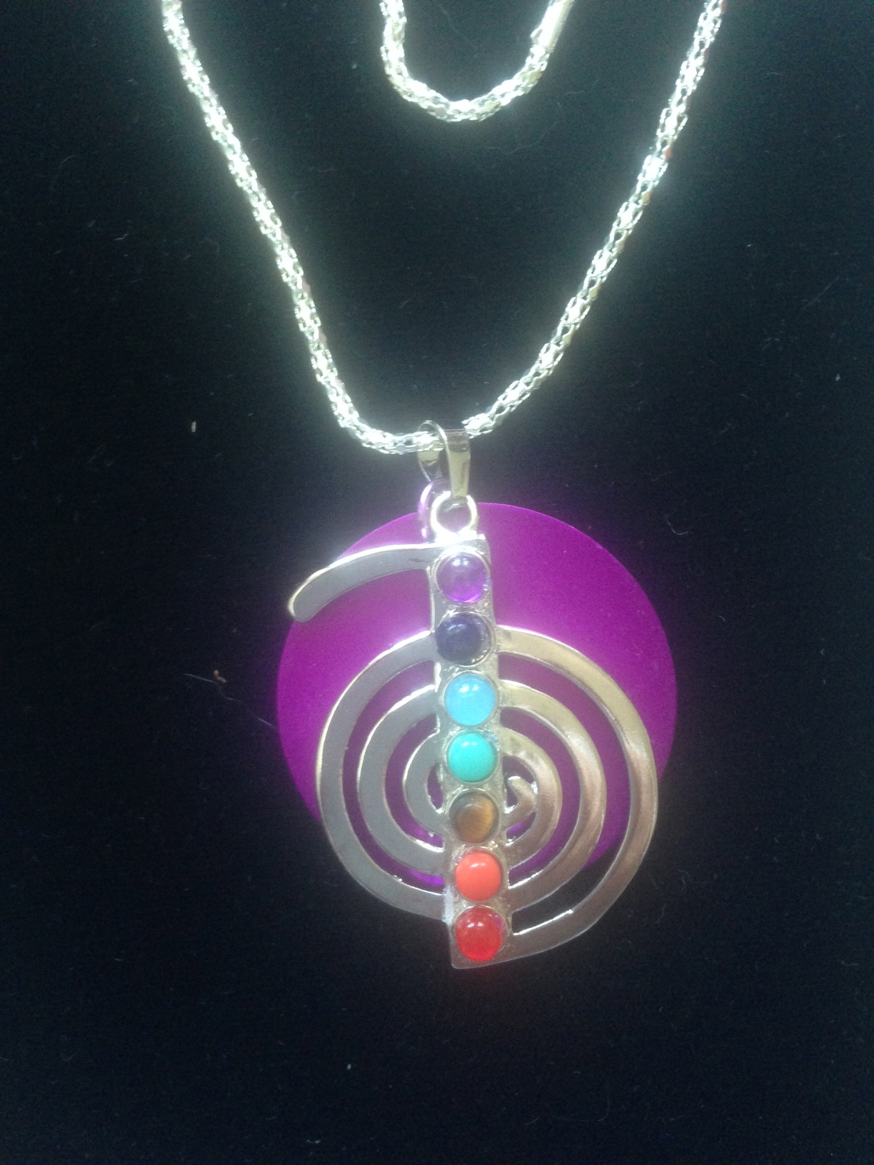 SALE: Reiki 7-Stone Healing Necklace & Disk