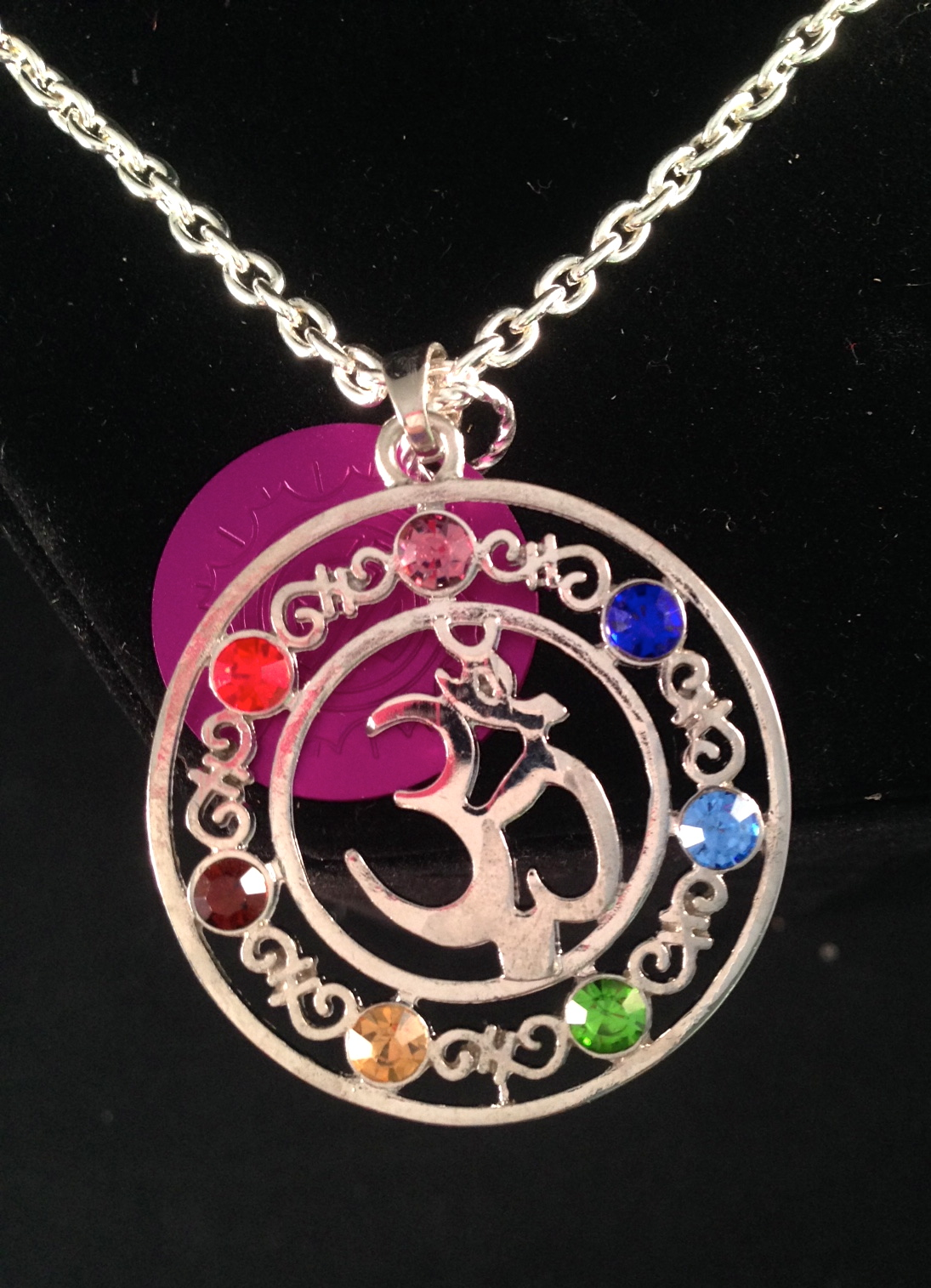 SALE: Large Om Chakra Symbol w/ Purple Energy Disk