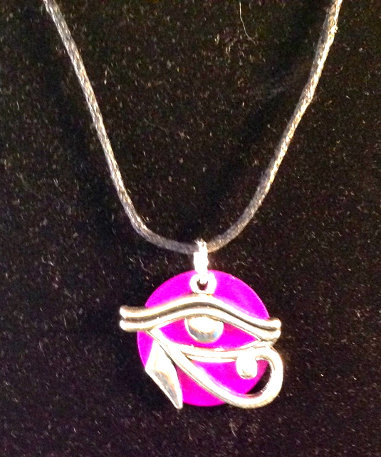 Eye of Horus with Purple Energy Disk