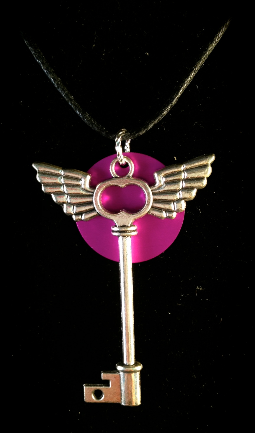 Flying Key with Purple disk.