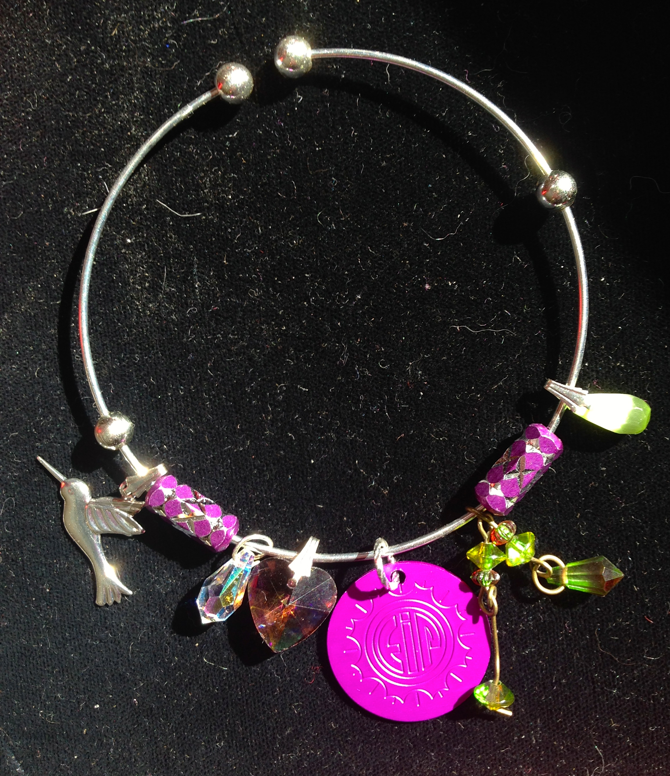 Hummingbird Magic Bangle with Energy Disk