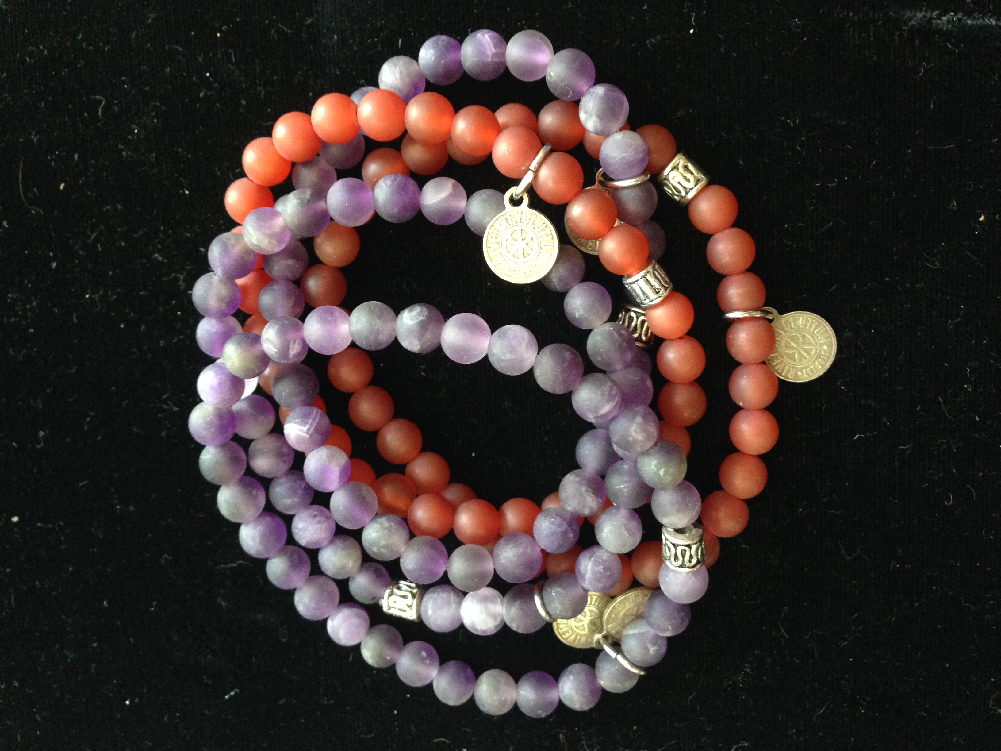 5 Amethyst and Agate Bracelets