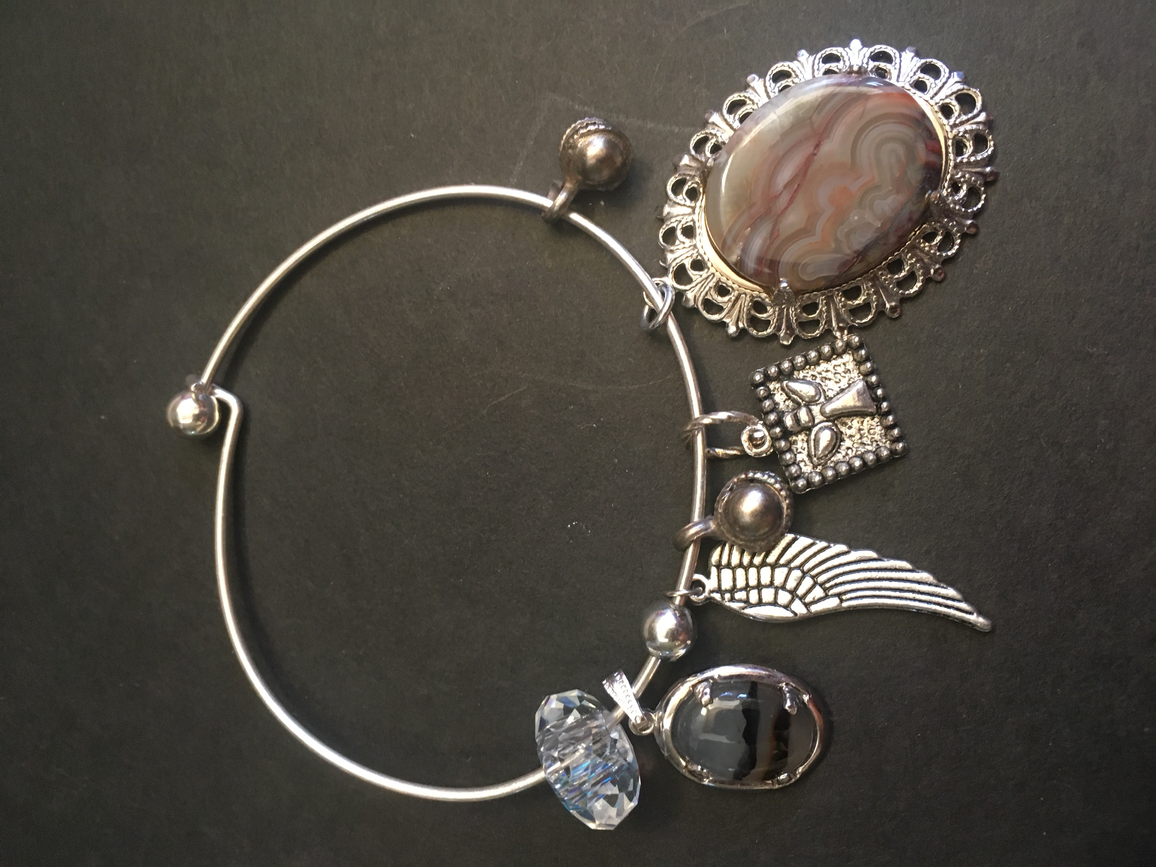 Agates and Angels Treasure Bangle