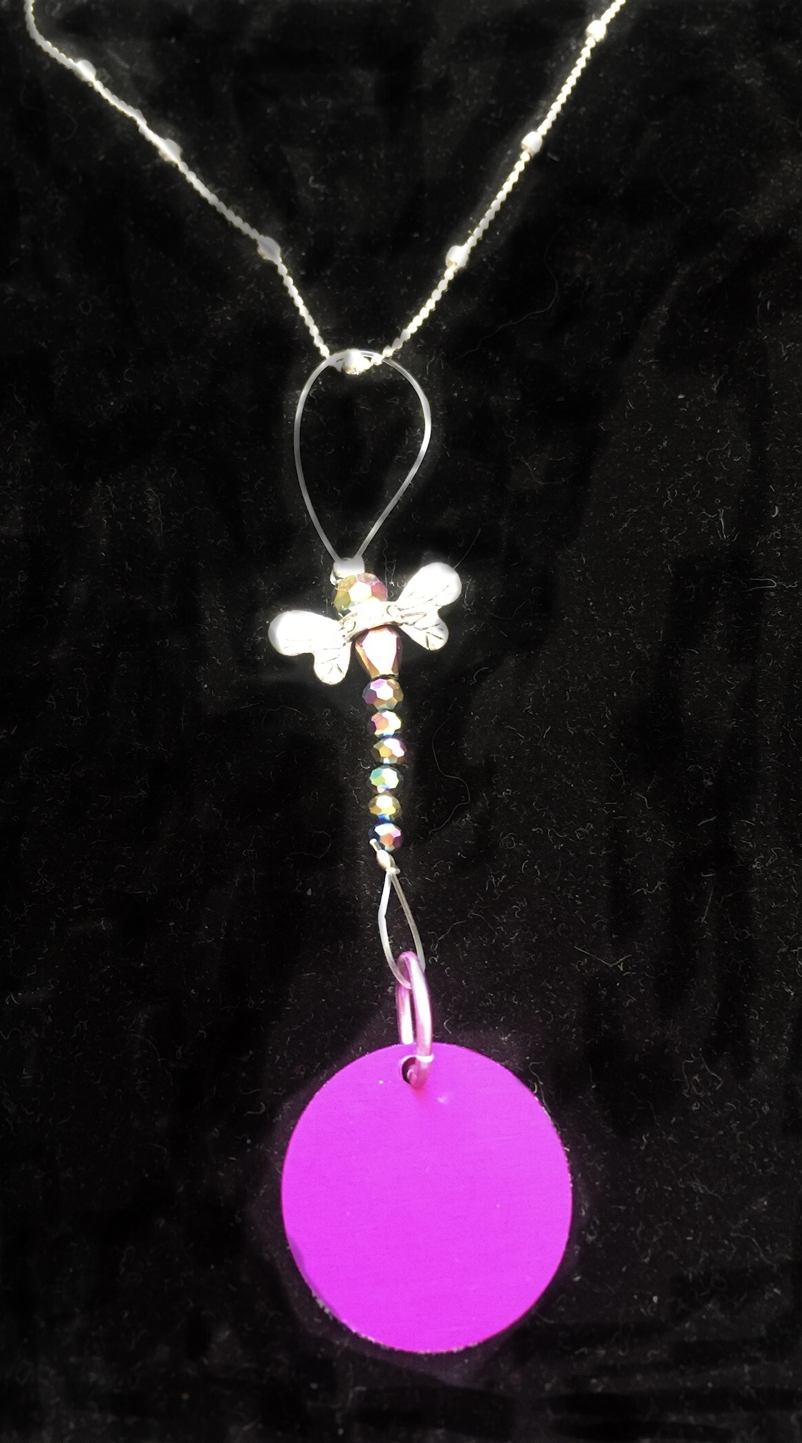 Jeweled Dragonfly with Purple Energy Disk
