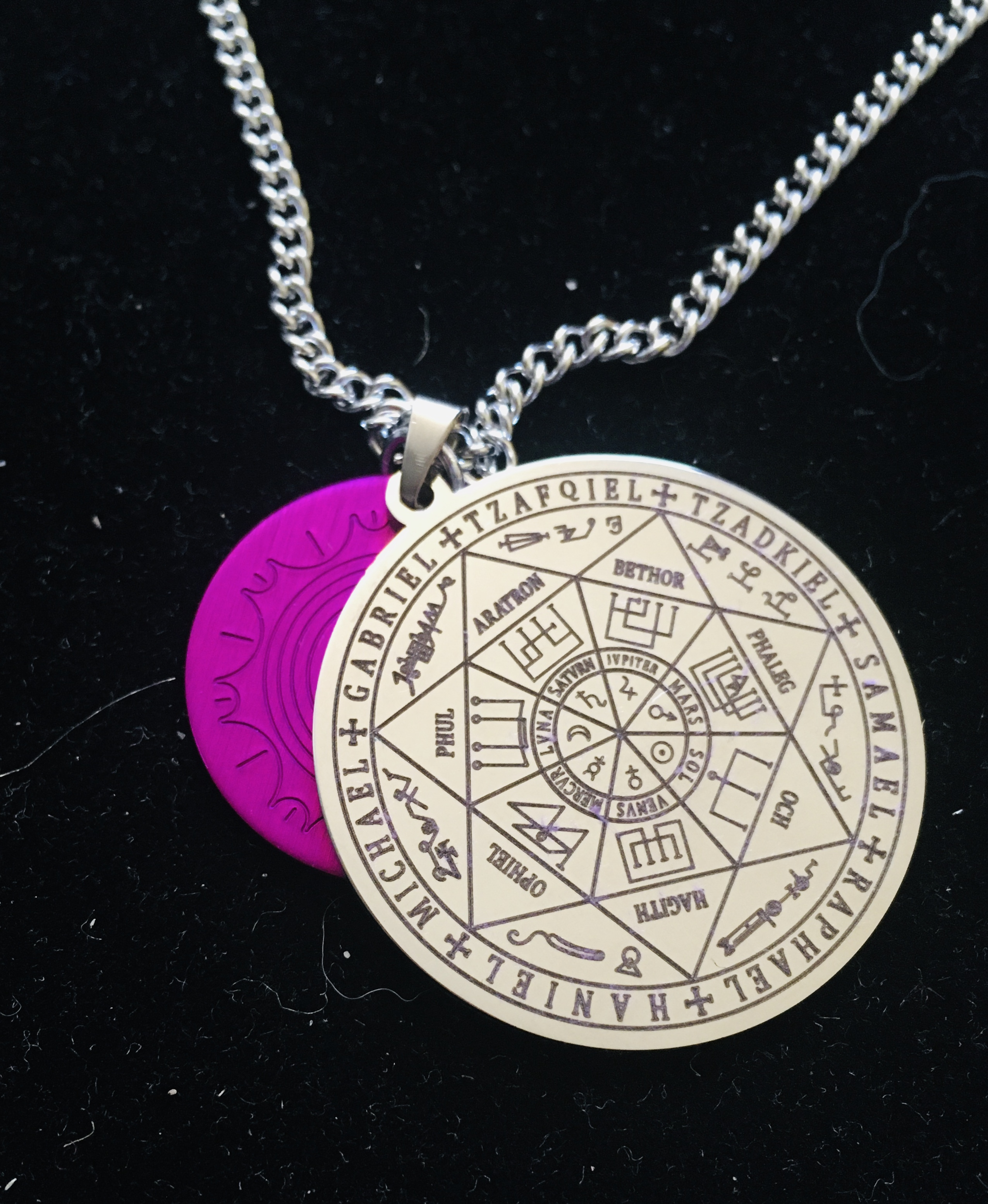 Archangels Seven Pendant w/Energy Disk and Chain