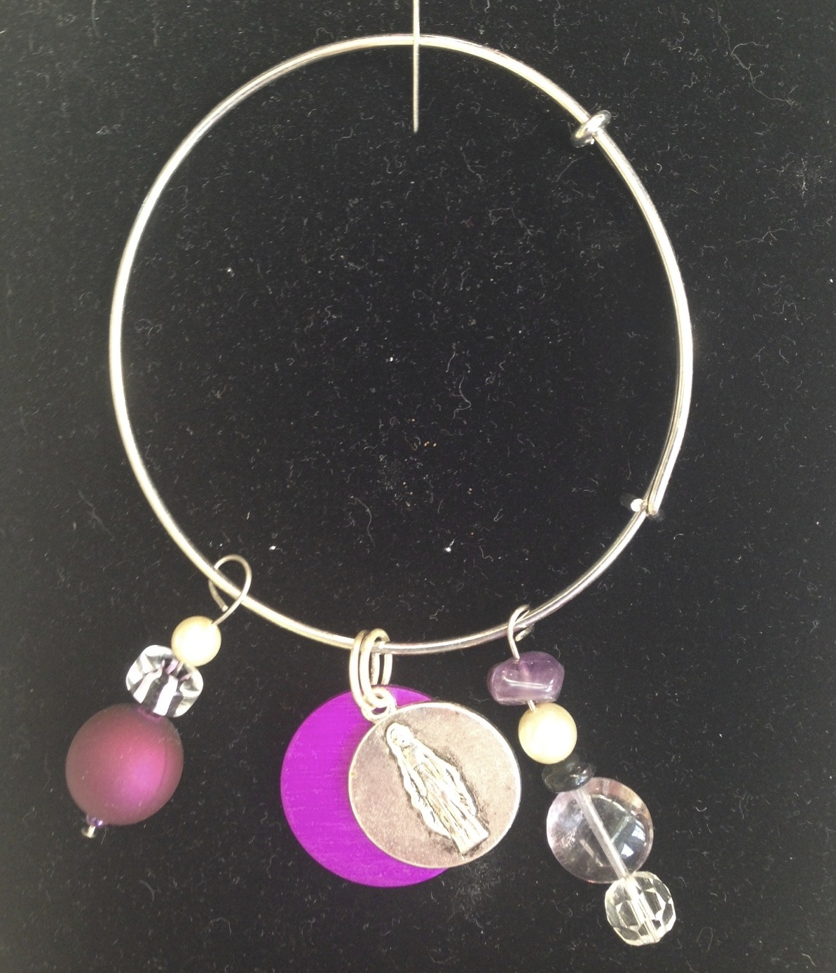 Tesla Purple Energy Charm Bangle-Ocean
