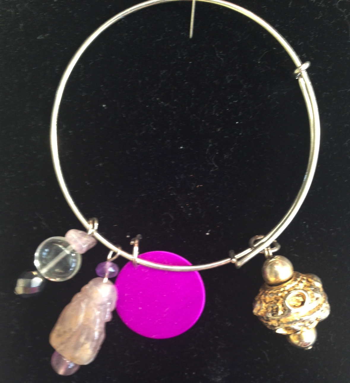 Treasure Bracelet with Purple Disk-C