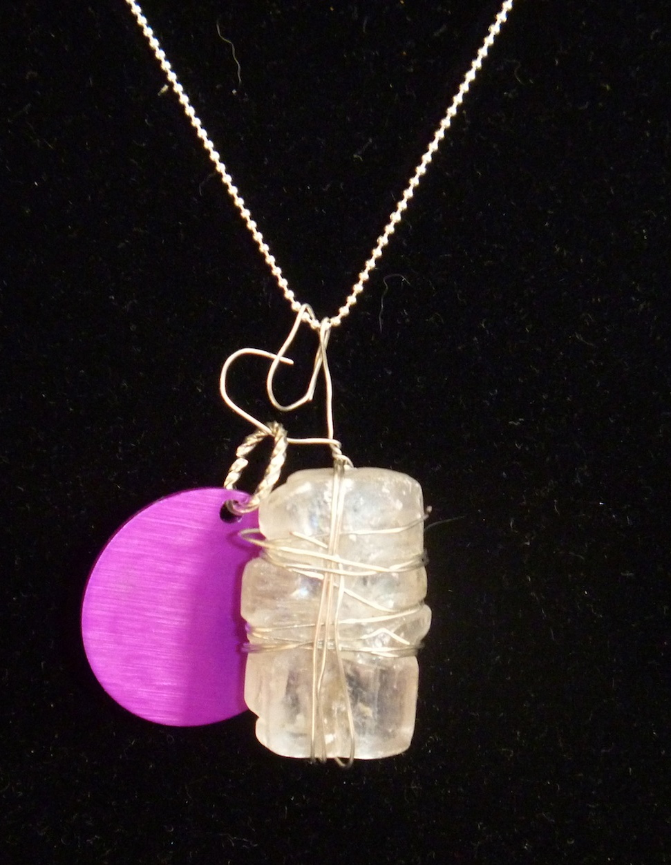 Raw Selenite Pendant Necklace