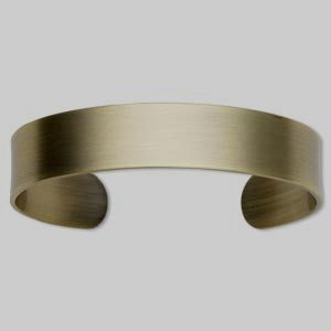 FREE ENERGY Bracelet cuff, antiqued gold-plated steel