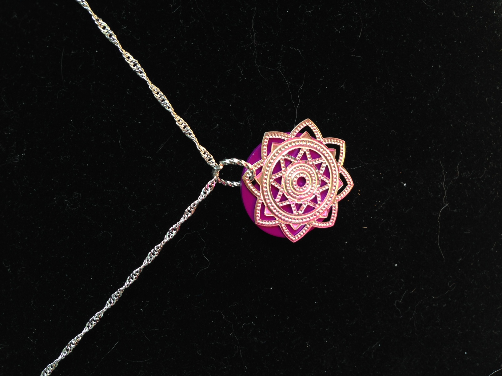 Purple Energy Disk and Mandala Cut-Out