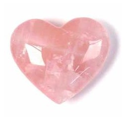 ROSE QUARTZ Heart Stone 20X20 mm