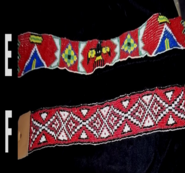SALE! 50% off Native American Beaded Headband - with ties