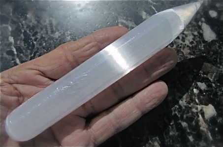 SELENITE WANDS: Large 7-8 inch Polished Wands