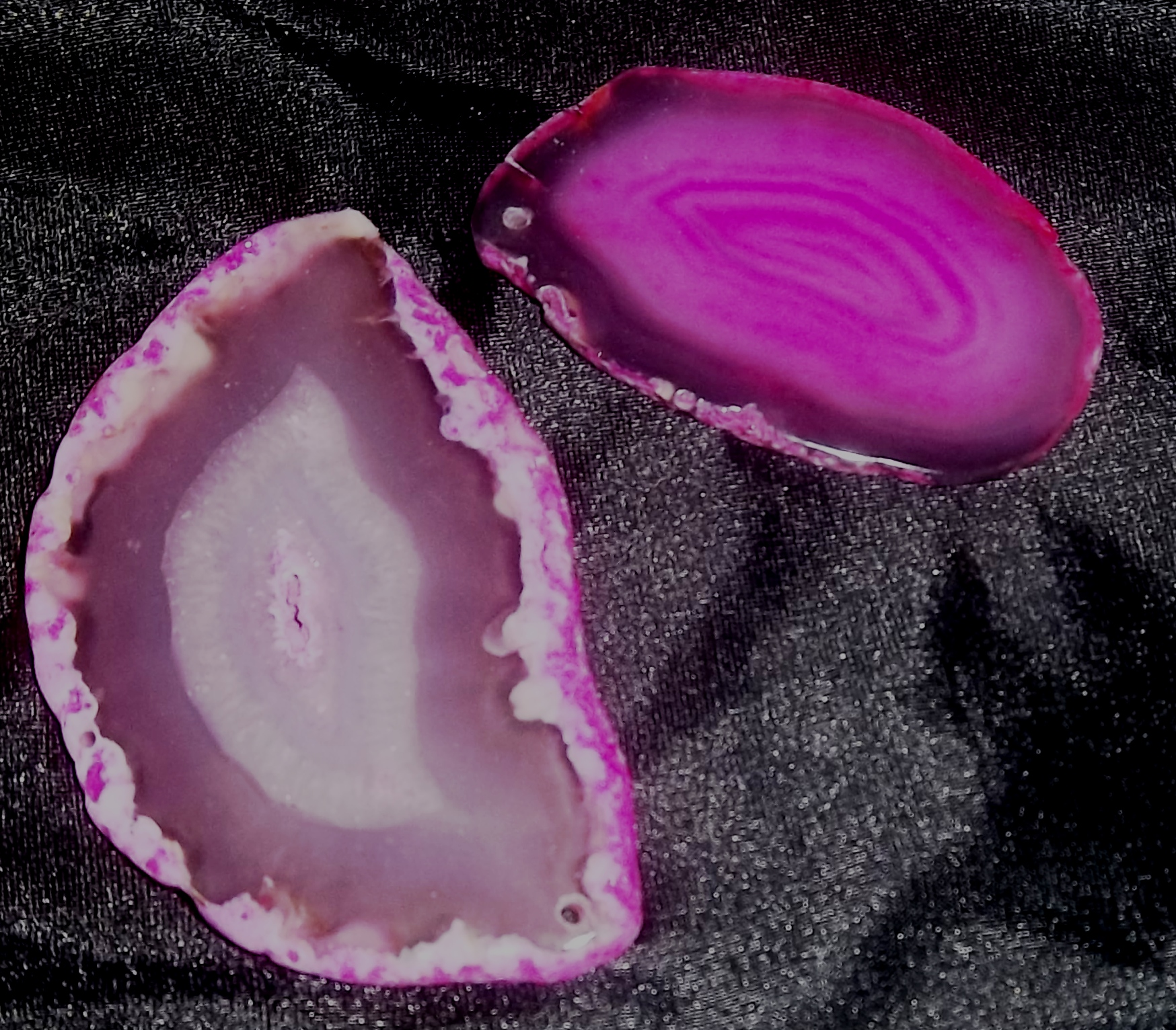 "AGATE SLICES (Fuchsia) 3"" to 4"""