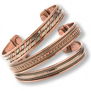 COPPER BRACELETS w/ Magnets, cuff style
