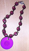 Purple Energy Disk Crystal Bracelet
