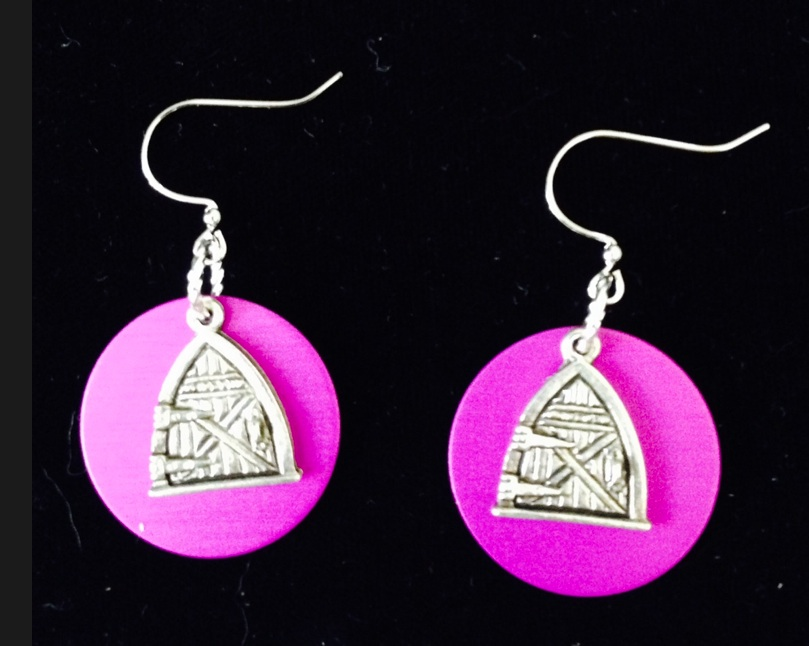 Fairy Door Energy Disk Earrings