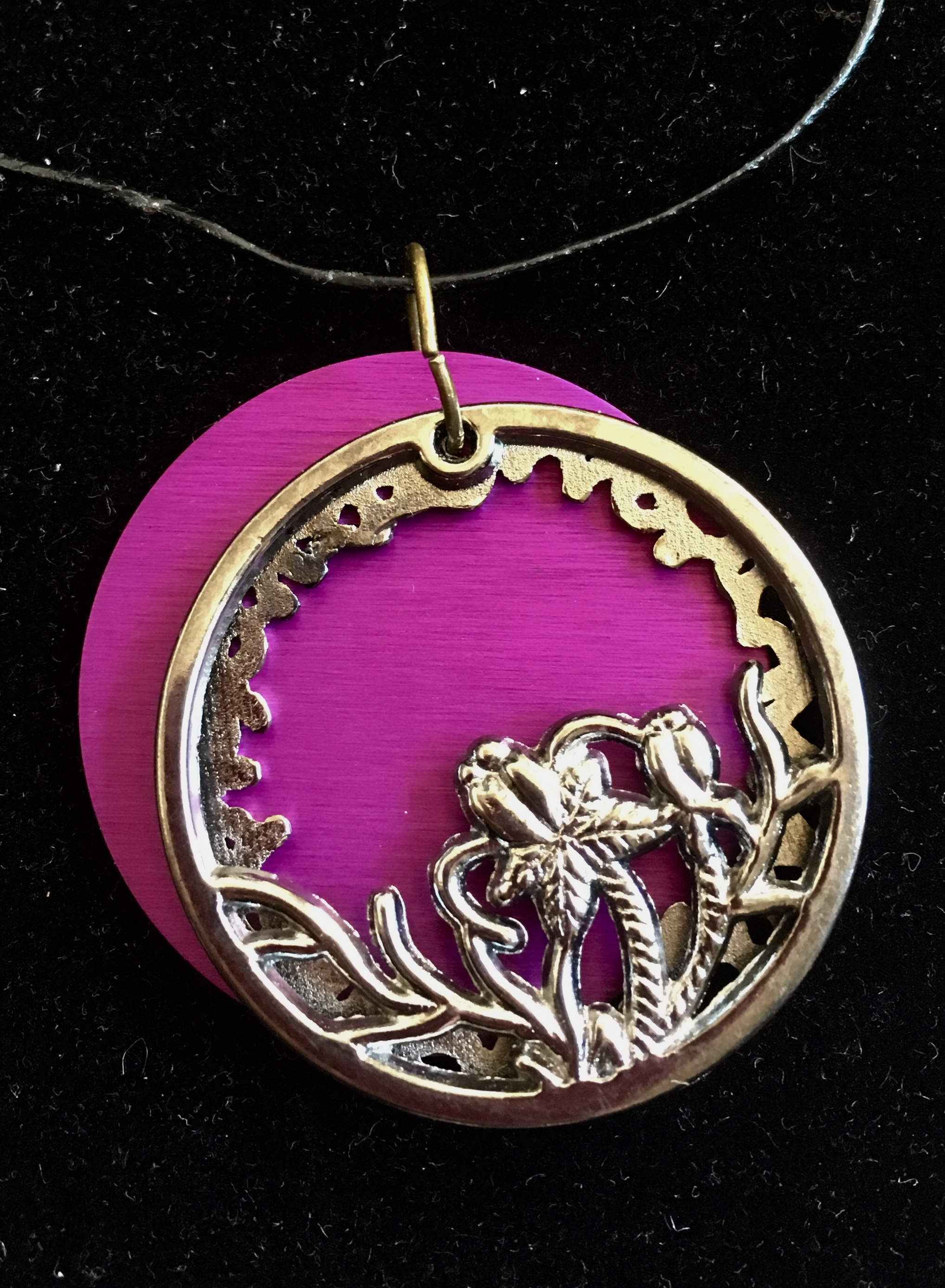 Silver Oasis Cutout with Large Purple Energy Disk