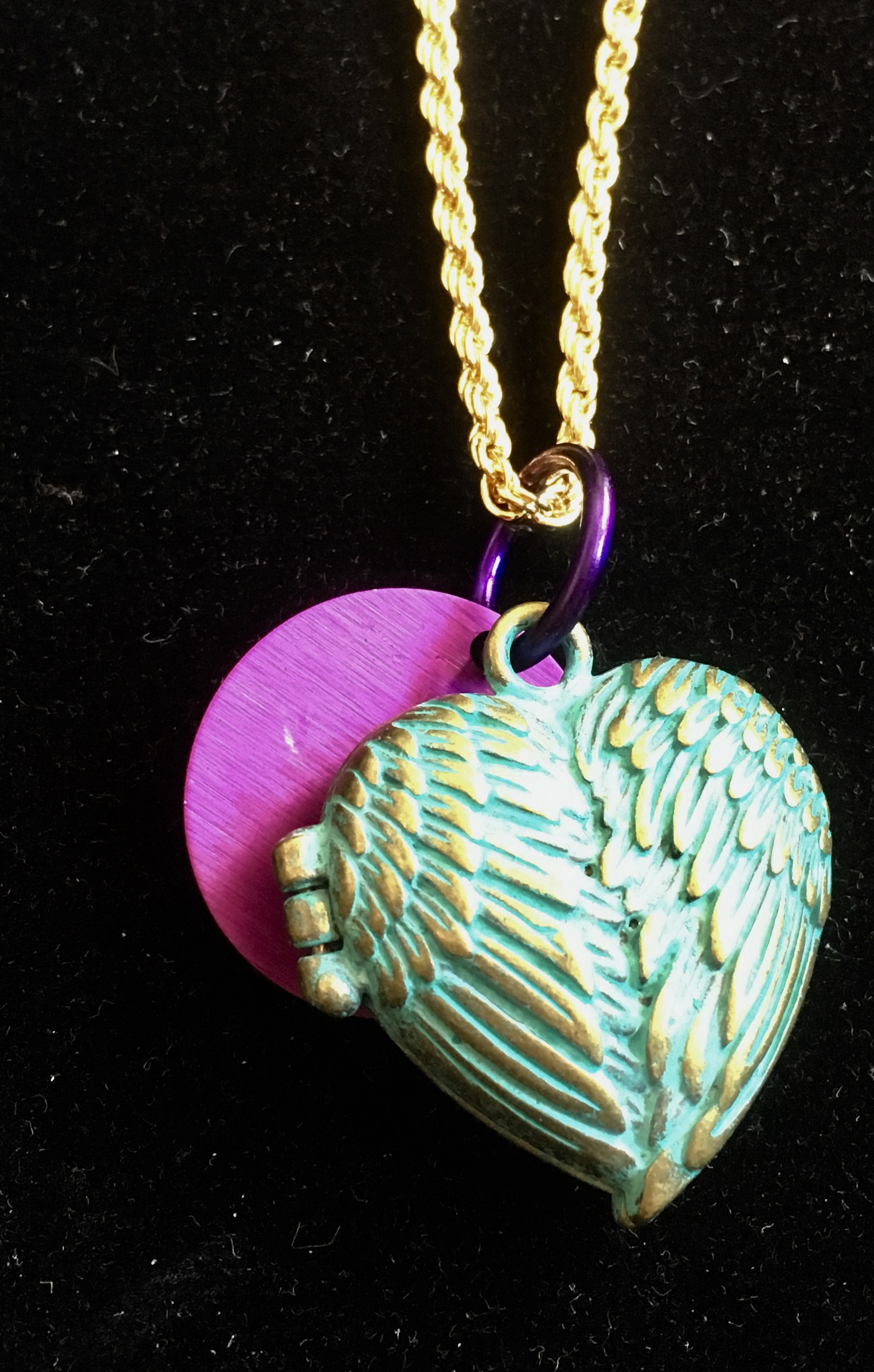 SALE: Angel Wings Locket with Energy Disk