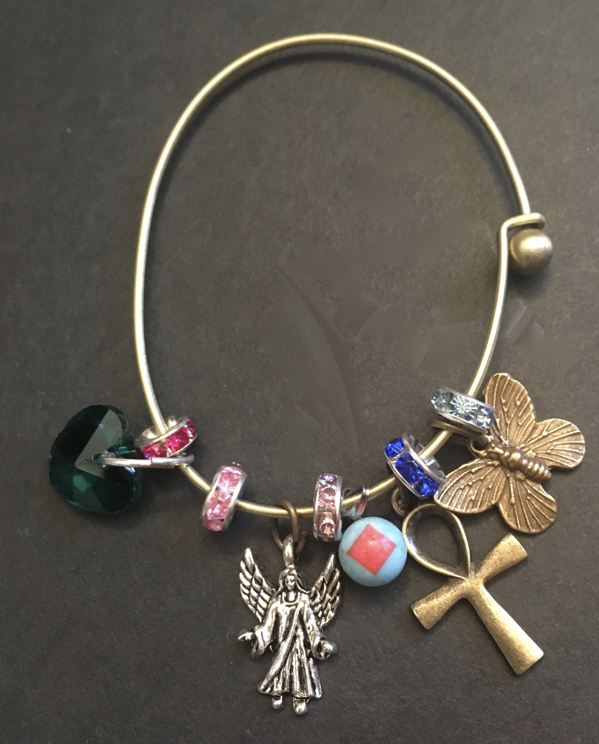 Blessings, Ankh, and butterfly bangle