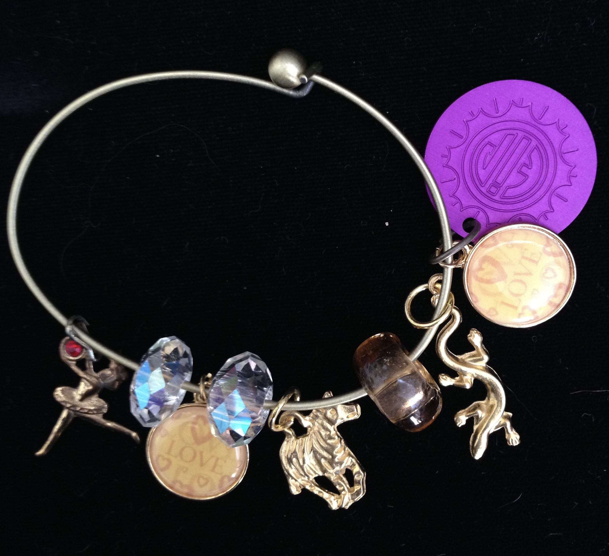 Tiny Dancer Charm Bangle