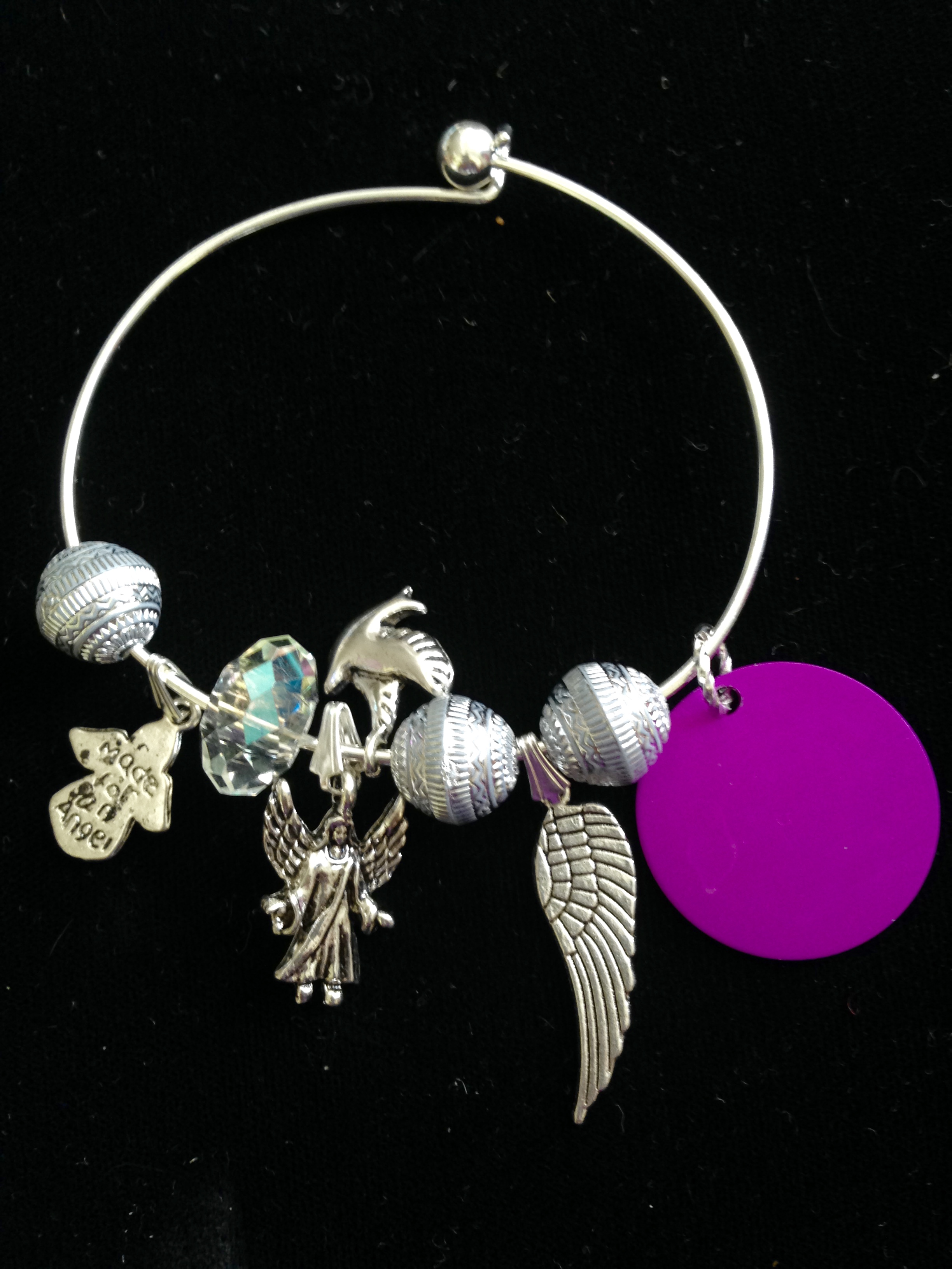 Angels on High Charm Bangle