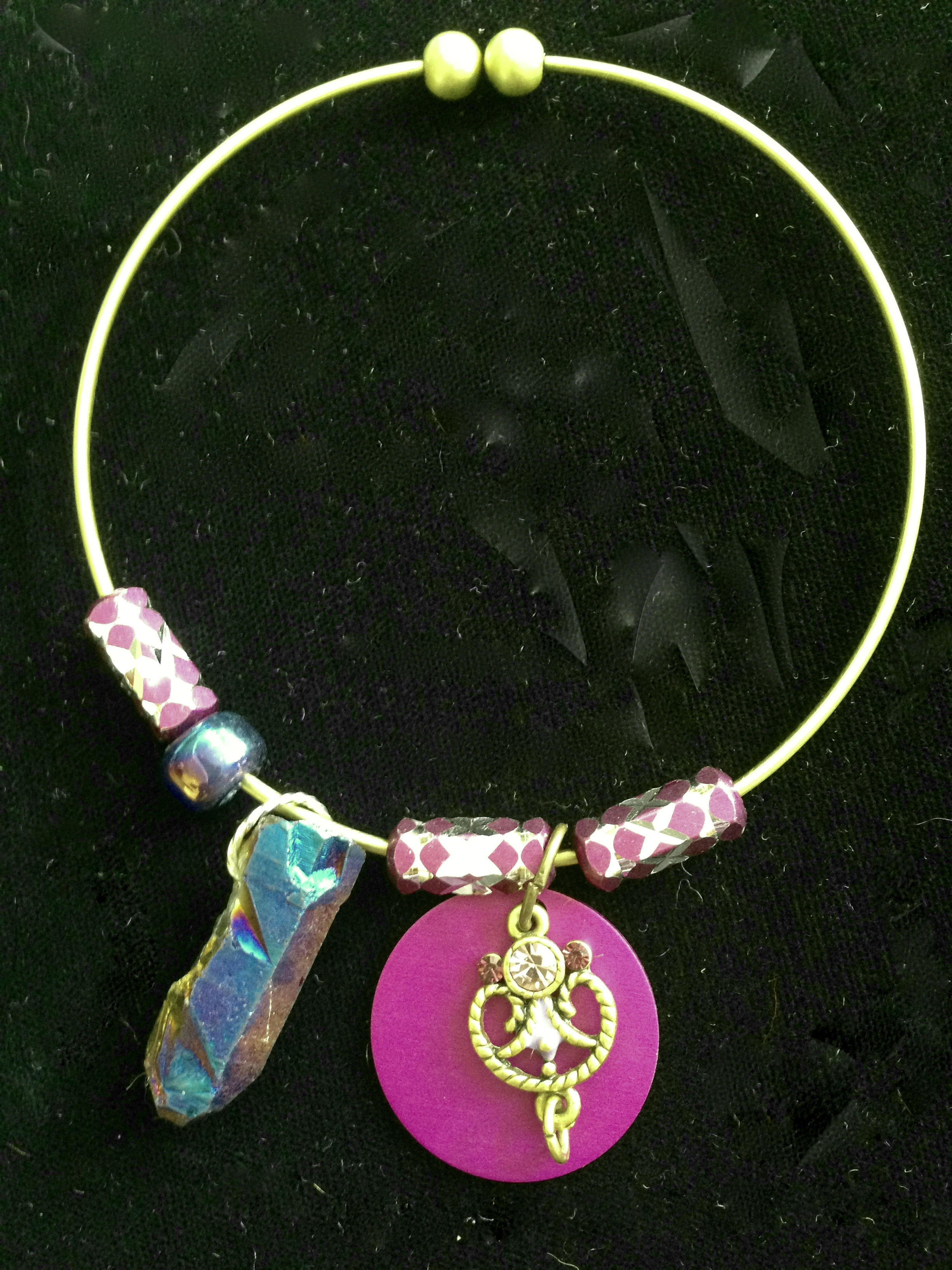 Rainbow Bridge Charm Bangle