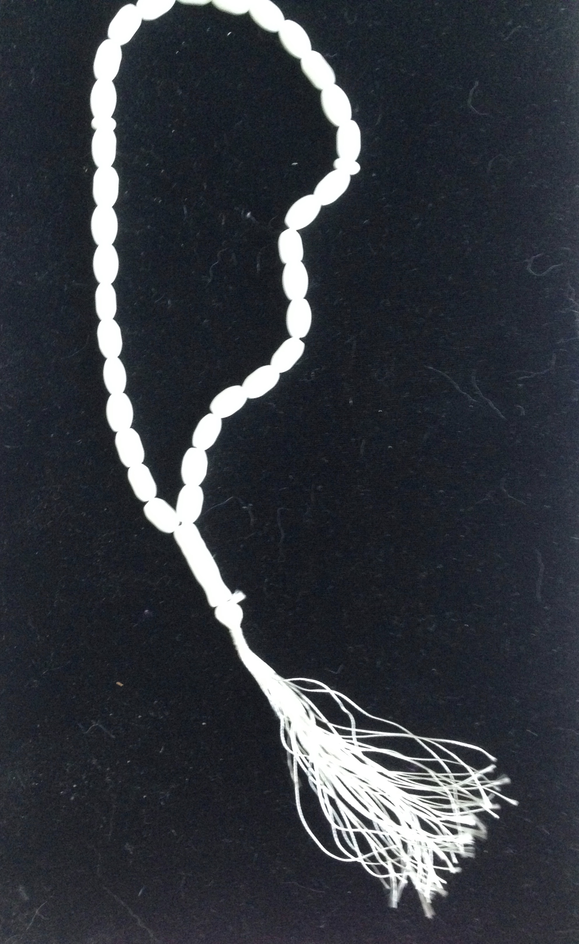 White Mala Prayer Beads