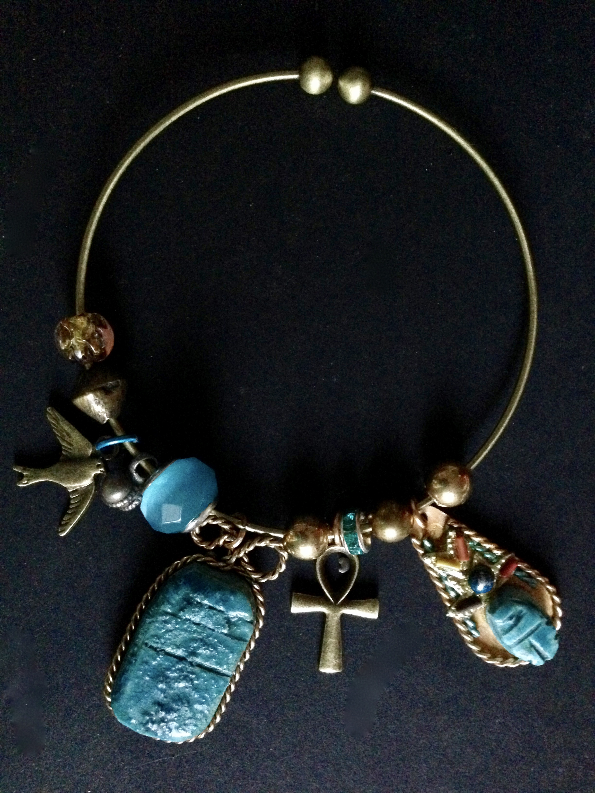 Egyptian Blue Charm Bangle