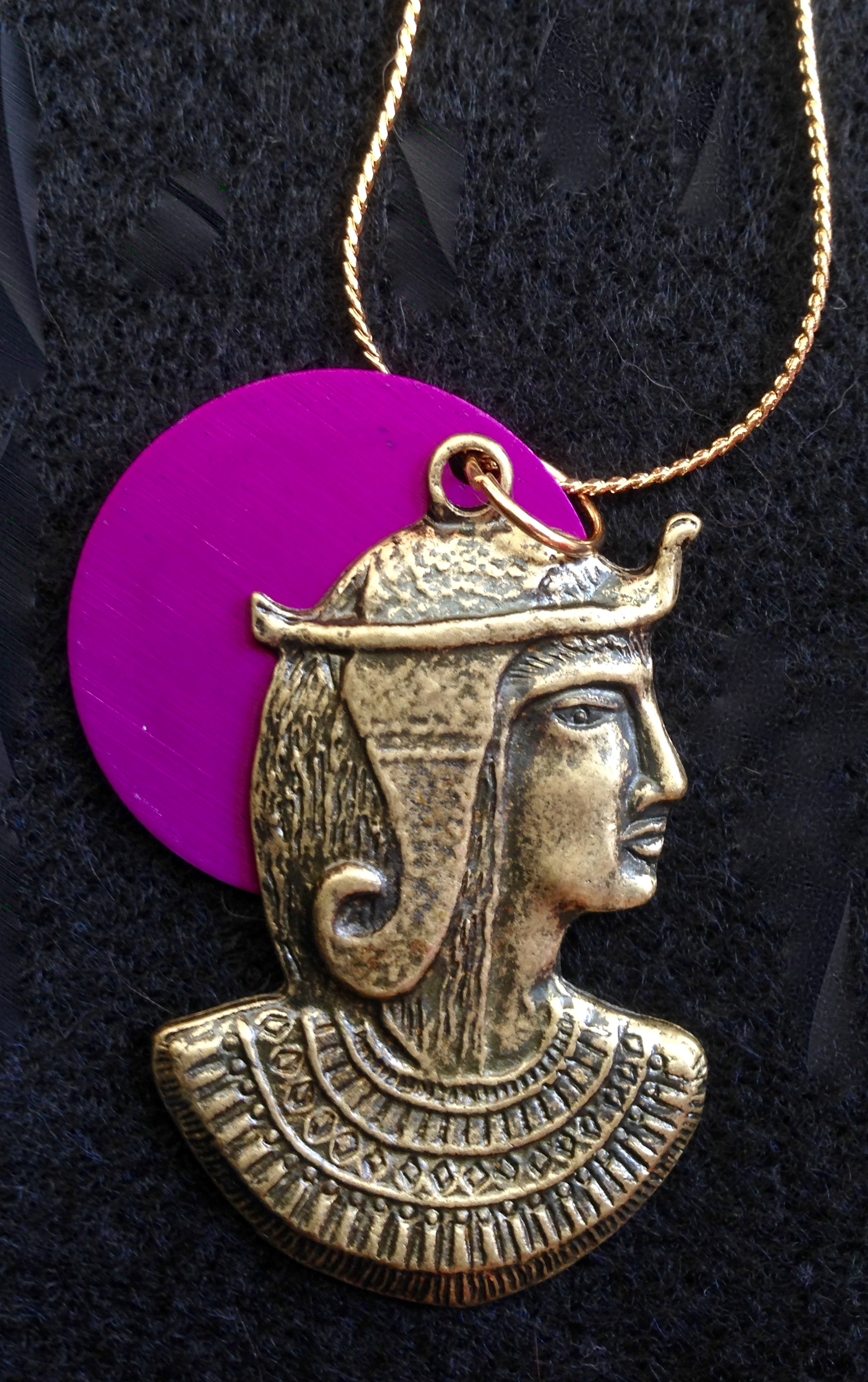 Egyptian Goddess and Energy Disk