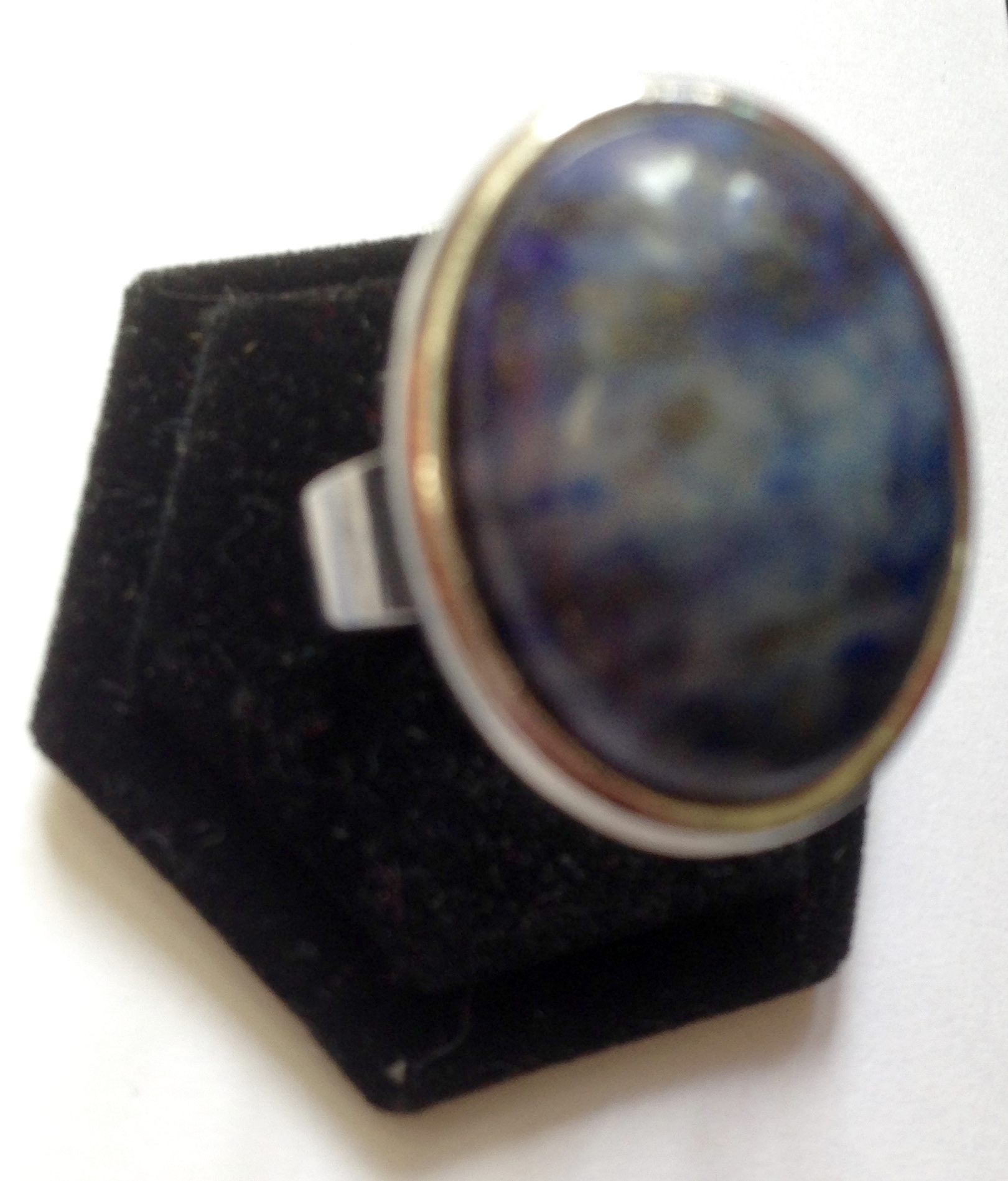 Oval Sodalite Adjustable Ring