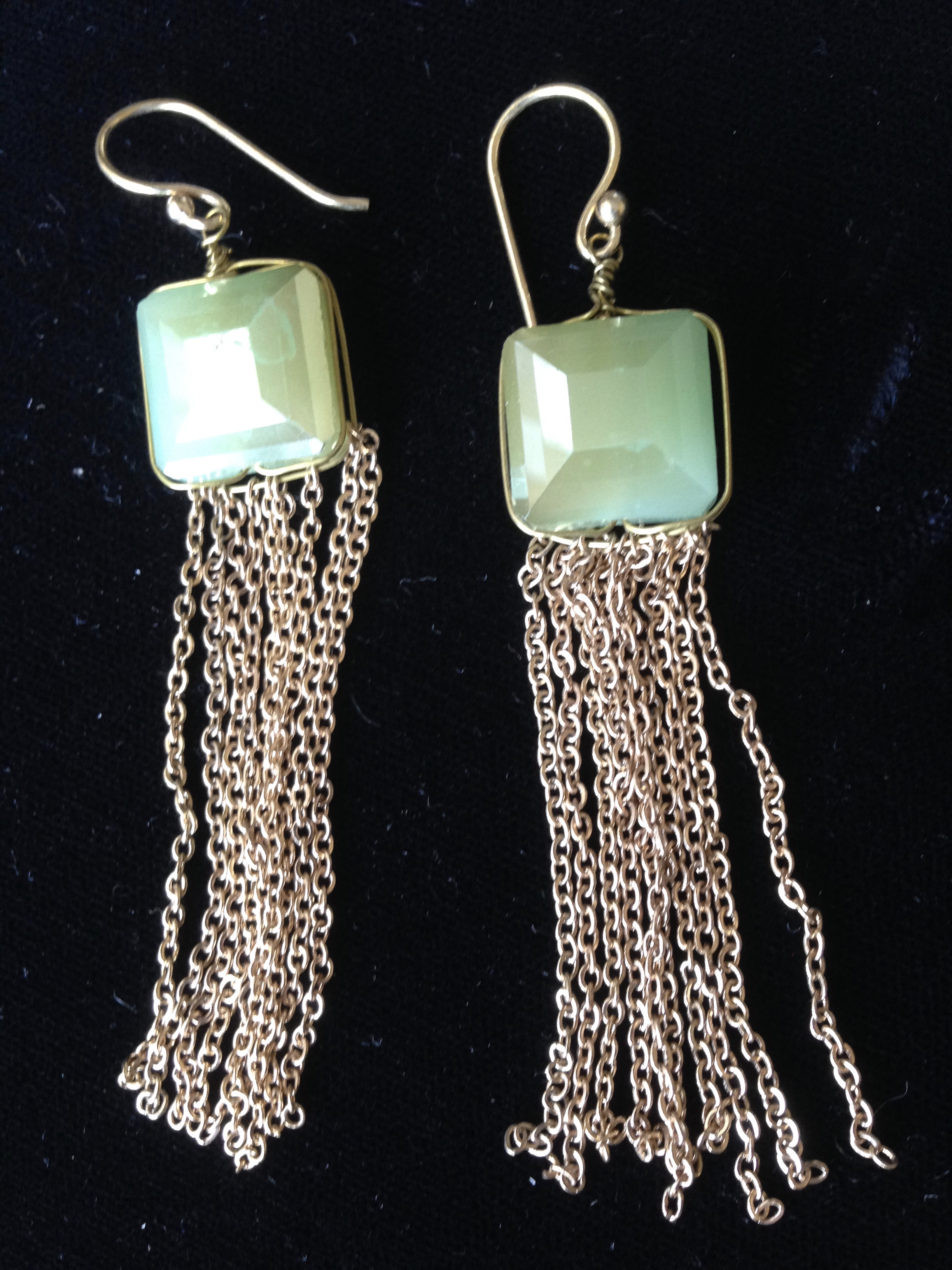 Dancing Green Earrings