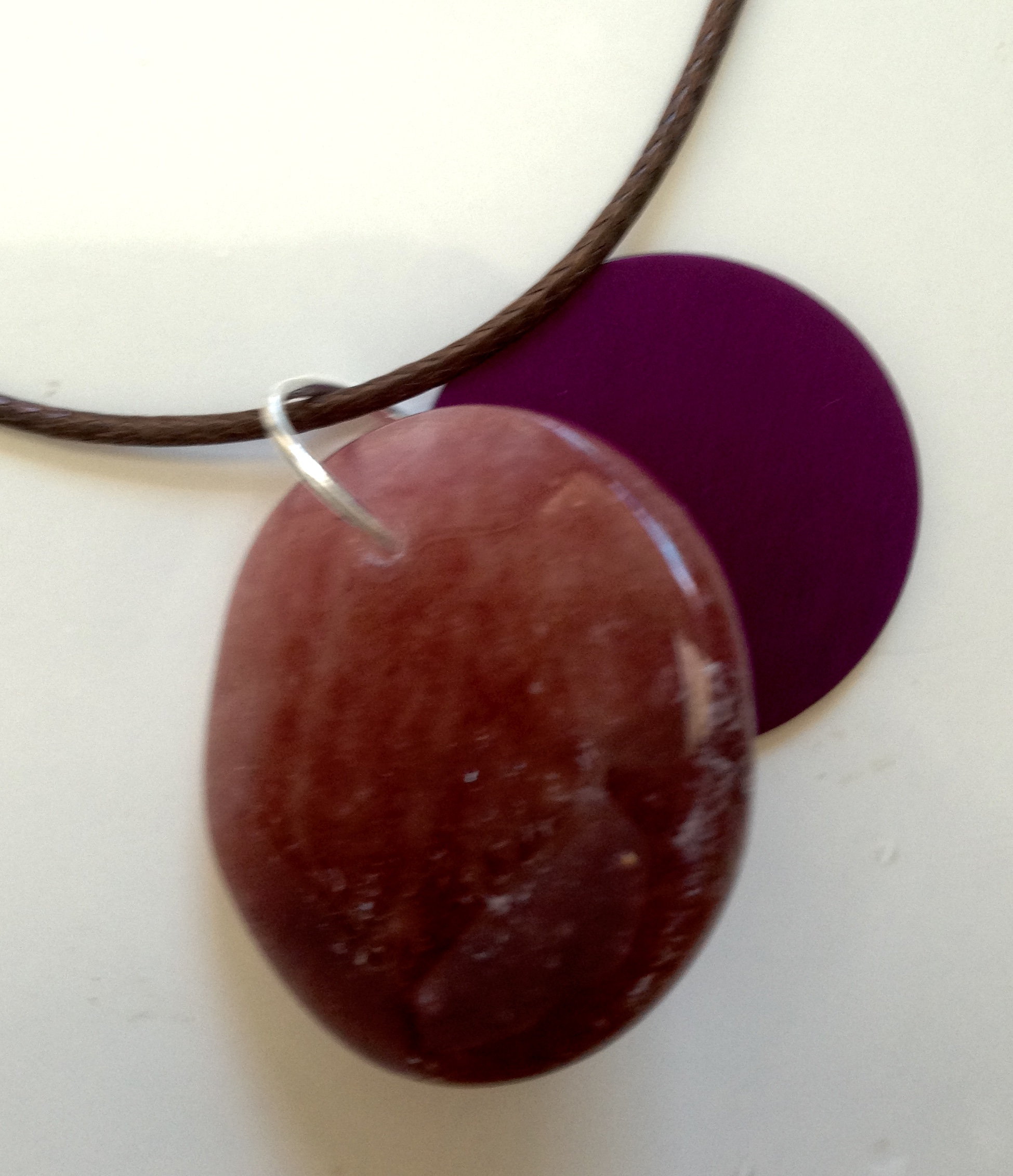 Magic Muscovite with Purple Energy Disk Necklace