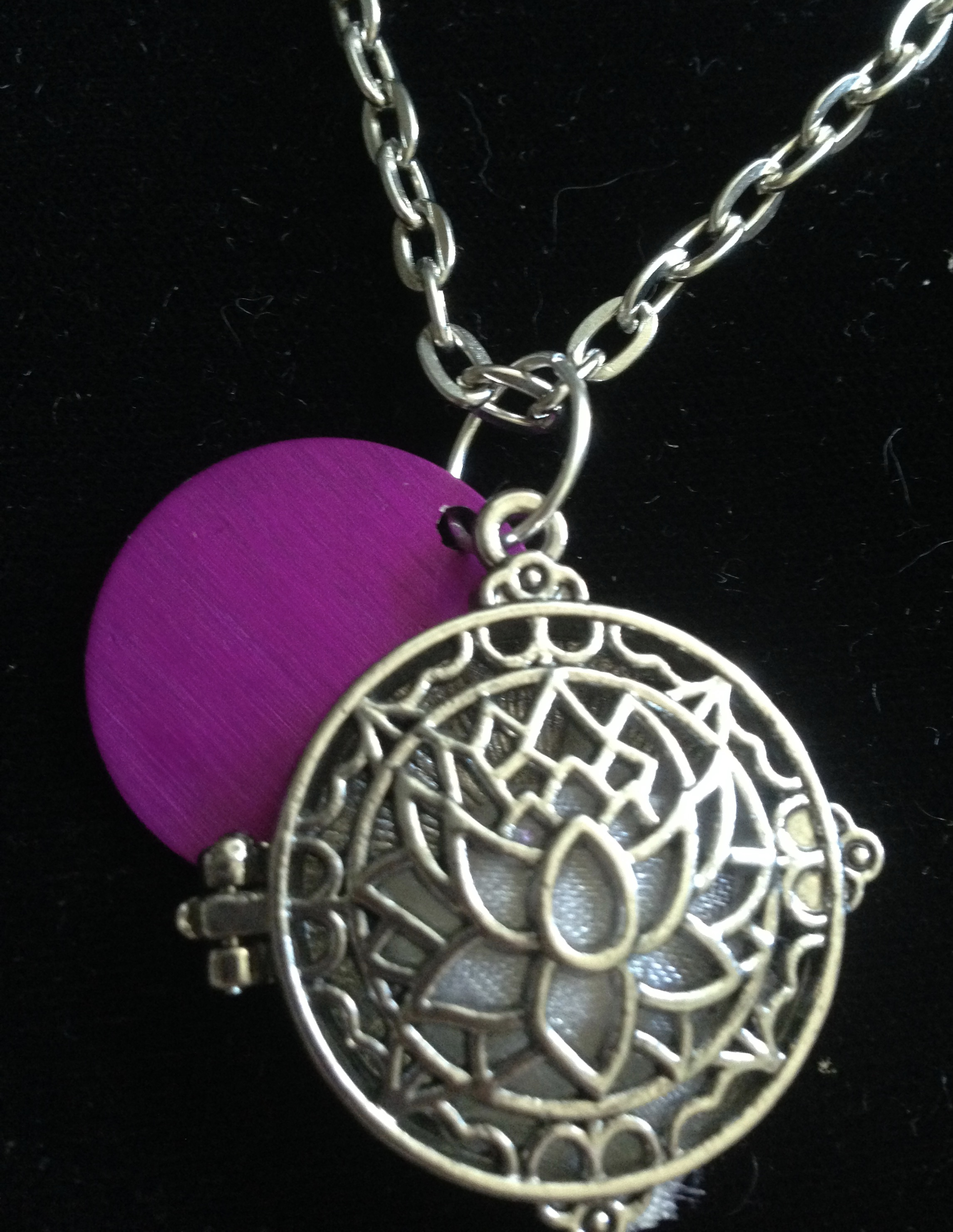 Love Potion and Purple Energy Disk Necklace