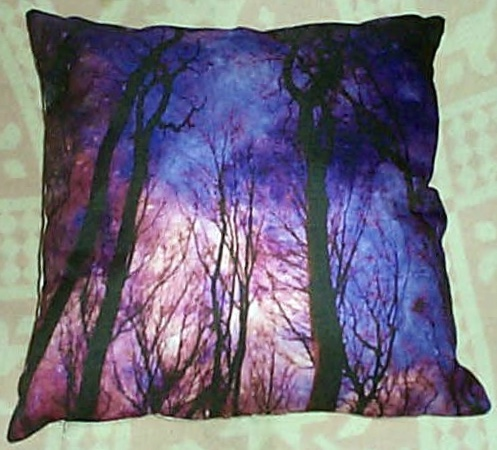 Positive Energy Pillow-Midnight Forest