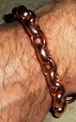 Heavy Rope Chain Copper Tesla Energy Bracelet
