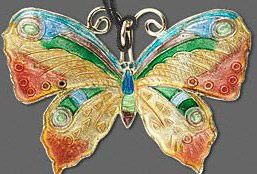 Butterfly Cloisonné and copper