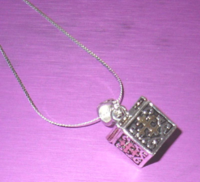 PRAYER BOX Necklace on Sterling Silver Chain