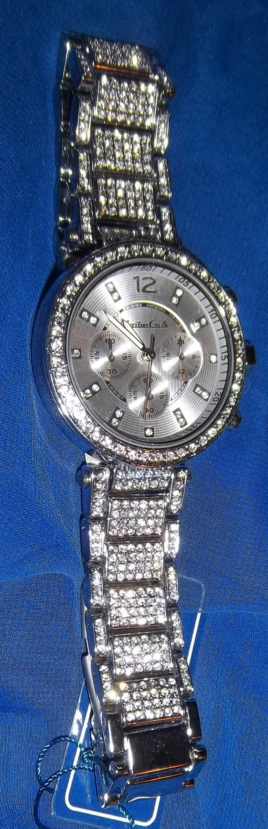 LADIES ENERGY WATCH ZZA - rhinestone studded